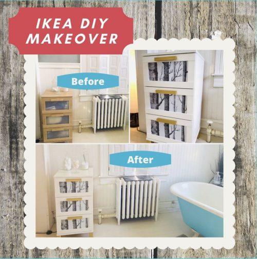 IKEA laminate furniture makeover