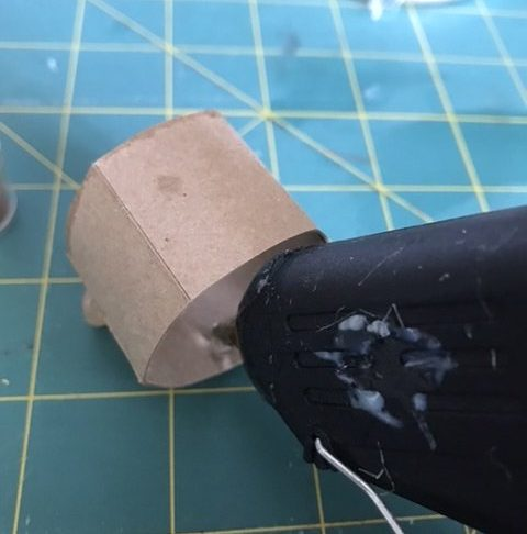 Puddle the hot glue to make hot glue honey
