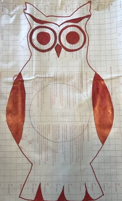 Trace your owl onto contact paper