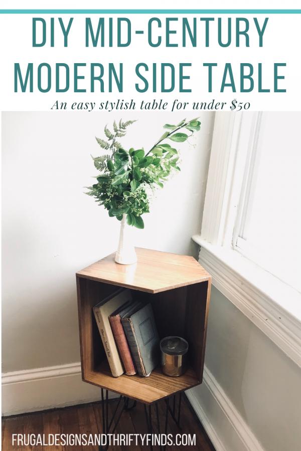 DIY Mid-Century Modern Side Table