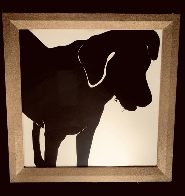 Finished dog silhouette standing